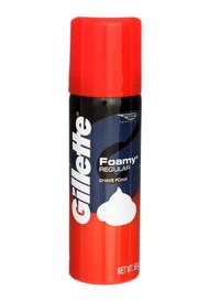 Gillette Foamy Shave Cream, Original Scent, 2 oz Aerosol, 48/Carton Free Shipping