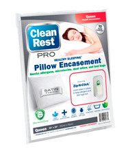 CleanRest Pro Pillow Encasements, Queen Size / Free Shipping