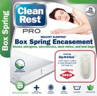 Clean Rest Pro Bed Bug & Allergen Blocking Box Spring Encasement Featuring Zip-N-Click (Queen) Free Shipping