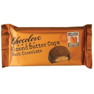 CHOCOLOVE Almond Butter Cups Dark Chocolate (master case) 12-12-1.2 Ounce Free Shipping