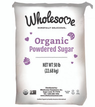 Wholesome Sweeteners Organic Powdered Sugar (6x) 50 lb Free Shipping