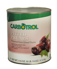 CARBOTROL Number 10 Pitted Prunes, 110 Ounce -- 3 per case. Free Shipping