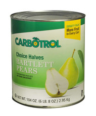 CARBOTROL-PEAR HALVES #10 6-104 Ounce Free shipping