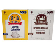 Gold Medal Carrot Cake Mix & Cream Cheese Icing 4.96 Lb. X 6 Free Shipping