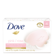 Dove Go Fresh Pink Rose Soap Bar, 4 Ounce Bar - 4 per Pack - 18 per Case Free Shipping