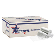 Renown 25 Gal. 0.74 mil 30 in. x 36 in. White Can Liner (200/Case) Free Shipping