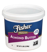 Fisher Natural Almond Butter, 80 Ounce -- 2 per case Free Shipping