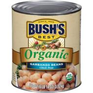 Bush's Best 100% Organic Garbanzo Beans, #10 Can - 6 per Case Free Shipping