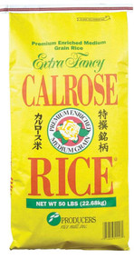 Producers Rice Mill Inc Calrose Medium Grain Rice, 50 Pounds - 1 per Case Free Shipping