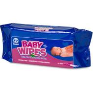 AMERCAREROYAL Baby Wipes Refill Pack, White, 80/Pack, 12 Packs/Carton