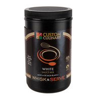 CUSTOM CULINARY WHISK & SERVE, White Sauce Shelf Stable 4-38 Ounce Free Shipping