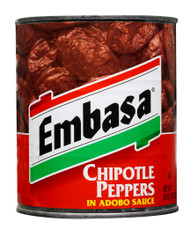 Embasa Chipotle Peppers in Adobo Sauce, 26 Ounces - 12 per Case Free Shipping