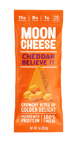 MOON CHEESE CHEDDAR BELIEVE IT 48-1 Ounce Free Shipping