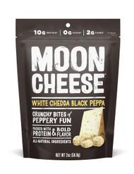 MOON CHEESE NUTRADRIED FOOD COMPANY WHITE CHEDDA/BLACK PEPPA  12-2 OUNCE