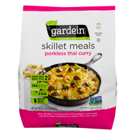 Gardein Skillet Meal Thai Porkless Curry, 20 oz Bag, 3/Pack, Free Delivery