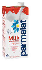 Parmalat Shelf Stable Ultra High Temperature Pasteurized Whole Milk, 2.15 Pound -- 12 per case Free Shipping