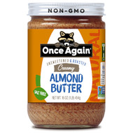 Once Again Nut Butter Smooth Almond Butter No Salt, 6/16 Ounces, FREE SHIPPING