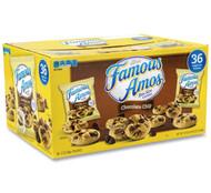KEEBLER COMPANY Famous Amos Cookies, Chocolate Chip, 2 oz Bag, 60/Carton