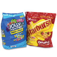 Chewy and Hard Candy Party Asst, Jolly Rancher/Starburst, 8.5 lbs Total, 2 Bag Bundle