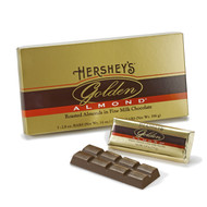 Hershey GOLDEN ALMOND Chocolate Bar Gift Box, 2.8 oz Bar, 5 Bars/Box, Free Shipping