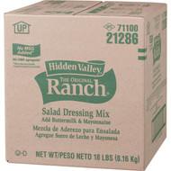 Hidden Valley No MSG Buttermilk Ranch Mix, 18 Pounds per Pack - 1 per Case