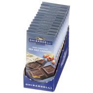 Ghirardelli Dark Chocolate & Sea Salt Caramel Bar, 3.5 Ounce Bar - 12 Per Case, Free Shipping