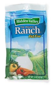 Hidden Valley Fat Free Original Ranch Dressing, 1.5 Ounces Per Packet - 84 Per Case, Free Shipping