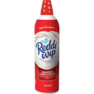 Reddi Whip Real Cream Light Whipped Topping, 15 Ounces - 12 Per Case, Free Shipping