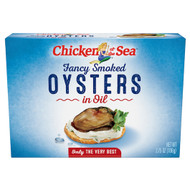 Chicken Of The Sea Smoked Oysters In Oil, 3.75 Ounces - 18 Per Case, Free Shipping