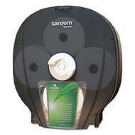 "Cascades Pro Tandem High Capacity Bath Tissue Dispenser, 6.3"" x 13.2"" x 15.2"", Smoked Gray, Free Shipping"