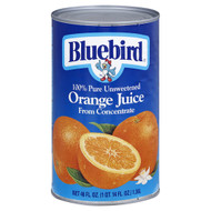 Bluebird Juice Orange Unsweetened 12/46oz, Free Shipping