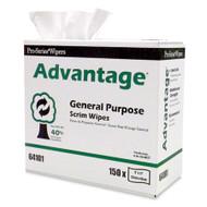 "MDI Pro-Series® Advantage® Scrim Wipes - 9"" x 17"" 6 x 1 case Free Shipping"