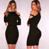 Peek-a-Boo Shoulder Sensual Dress