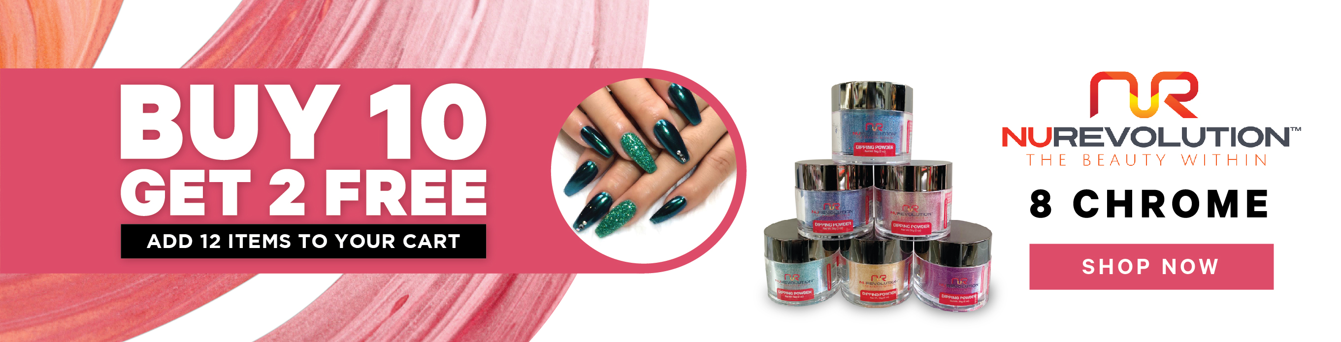 New Collections - NuRevolution - Chrome Dip Powders - Allure Nail Supply