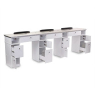 AYC Sonoma Triple Manicure Table (With Exhaust)