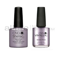 CND Shellac with matching Vinylux - Alpine Plum