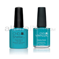 CND Shellac with matching Vinylux - Aqua-intance