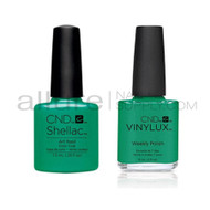 CND Shellac with matching Vinylux - Art Basil