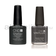 CND Shellac with matching Vinylux - Asphalt