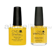 CND Shellac with matching Vinylux - Banana Clips