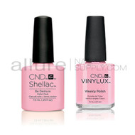 CND Shellac with matching Vinylux - Be Demure