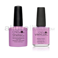 CND Shellac with matching Vinylux - Beckoning Begonia