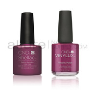 CND Shellac with matching Vinylux - Berry Boudoir