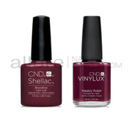 CND Shellac with matching Vinylux - Bloodline
