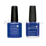 CND Shellac with matching Vinylux - Blue Eyeshadow