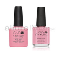 CND Shellac with matching Vinylux - Blush Teddy