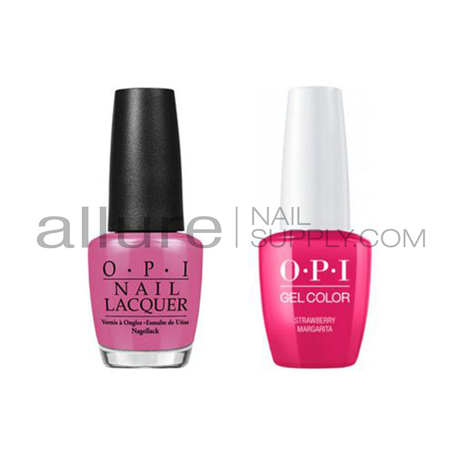 Opi Matching Gelcolor And Nail Polish Gnm23a Strawberry Margarita 15ml Allure Nail Supply