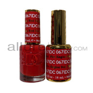 DND DC - Matching Gel and Nail Lacquer - Fire Engine Red