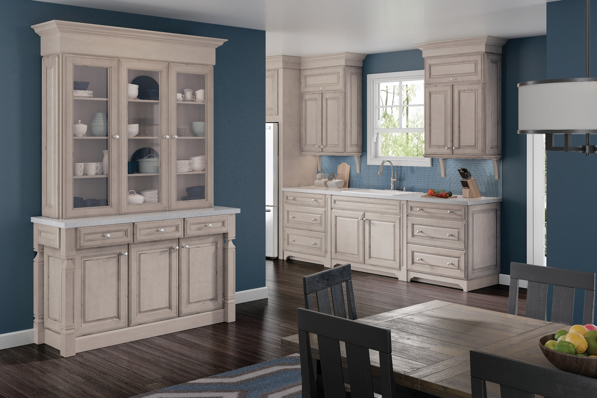 Cardell Kitchen Cabinets - Jolina Maple in Aged Concrete