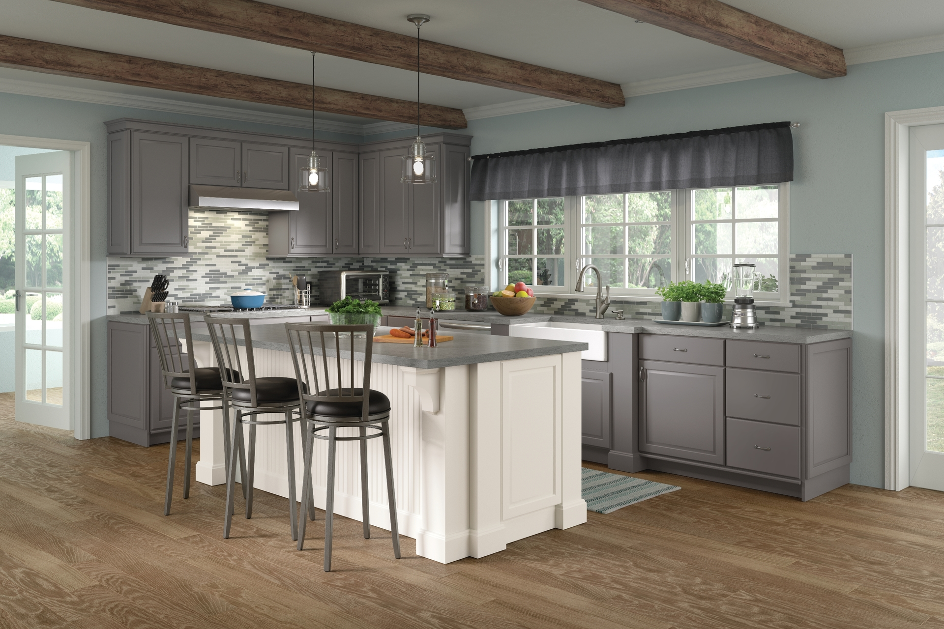 Cardell Kitchen Cabinets - Fox Valley Maple Square Full ...